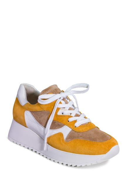 Image of Paul Green R4949 Suede & Leather Sneaker