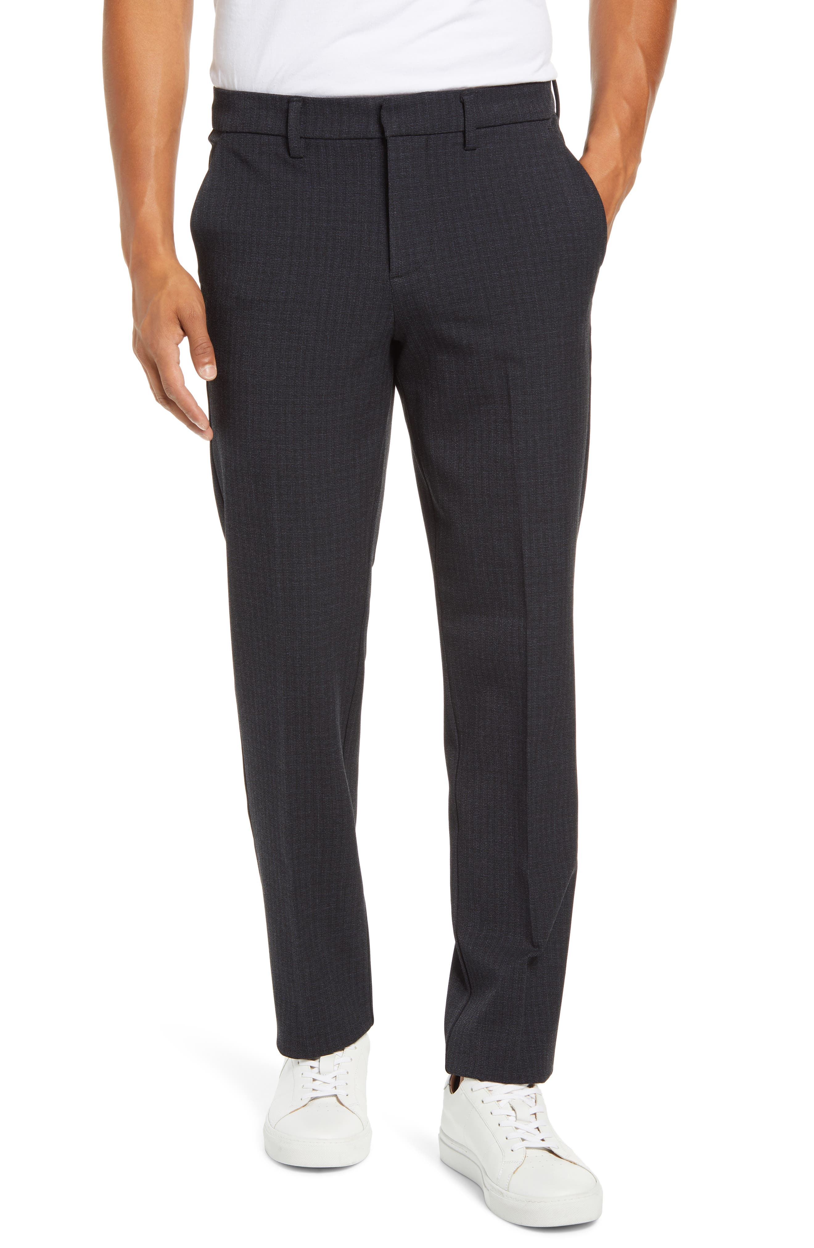A flat front and refined five-pocket construction distinguish a pair of pants cut from a stretchy, shape-retaining ponte knit that makes them ideal for travel. Style Name: Liverpool Liverpool Travel Pants. Style Number: 6089213. Available in stores.