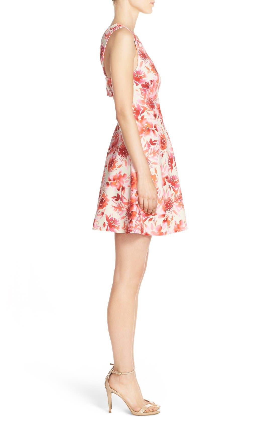 ,                             Bianca Back Cutout Fit & Flare Dress,                             Alternate thumbnail 75, color,                             668