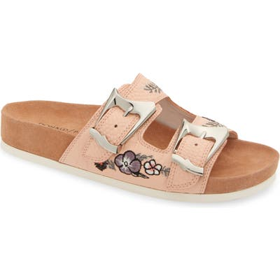 Donald Pliner Baylie Embroidered Slide Sandal, Pink