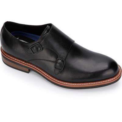 Kenneth Cole Reaction Klay Flex Double Monk Strap Shoe, Black