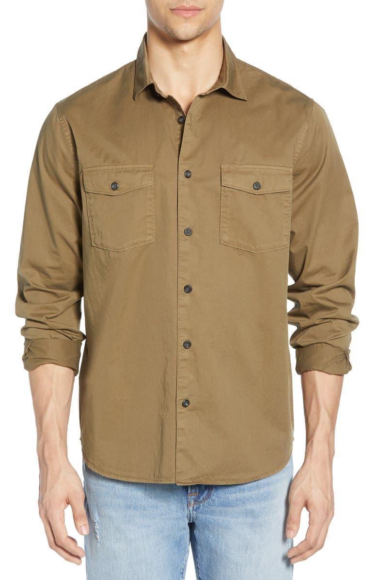 FRAME Slim Fit Solid Shirt, Main, color, 301