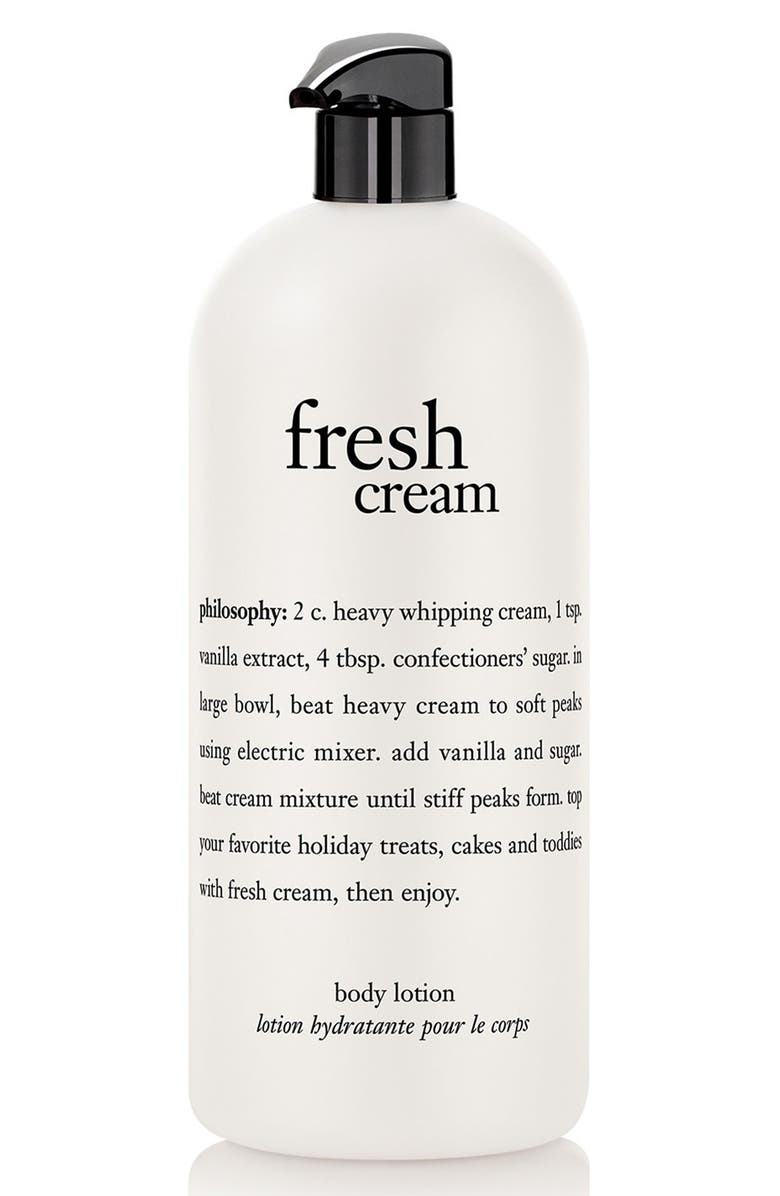PHILOSOPHY 'fresh cream' lotion, Main, color, 000