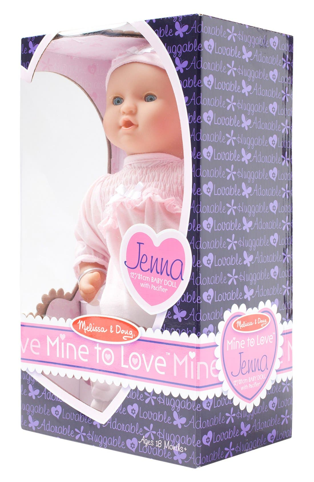 ,                             'Mine to Love - Jenna' Baby Doll,                             Alternate thumbnail 2, color,                             PINK