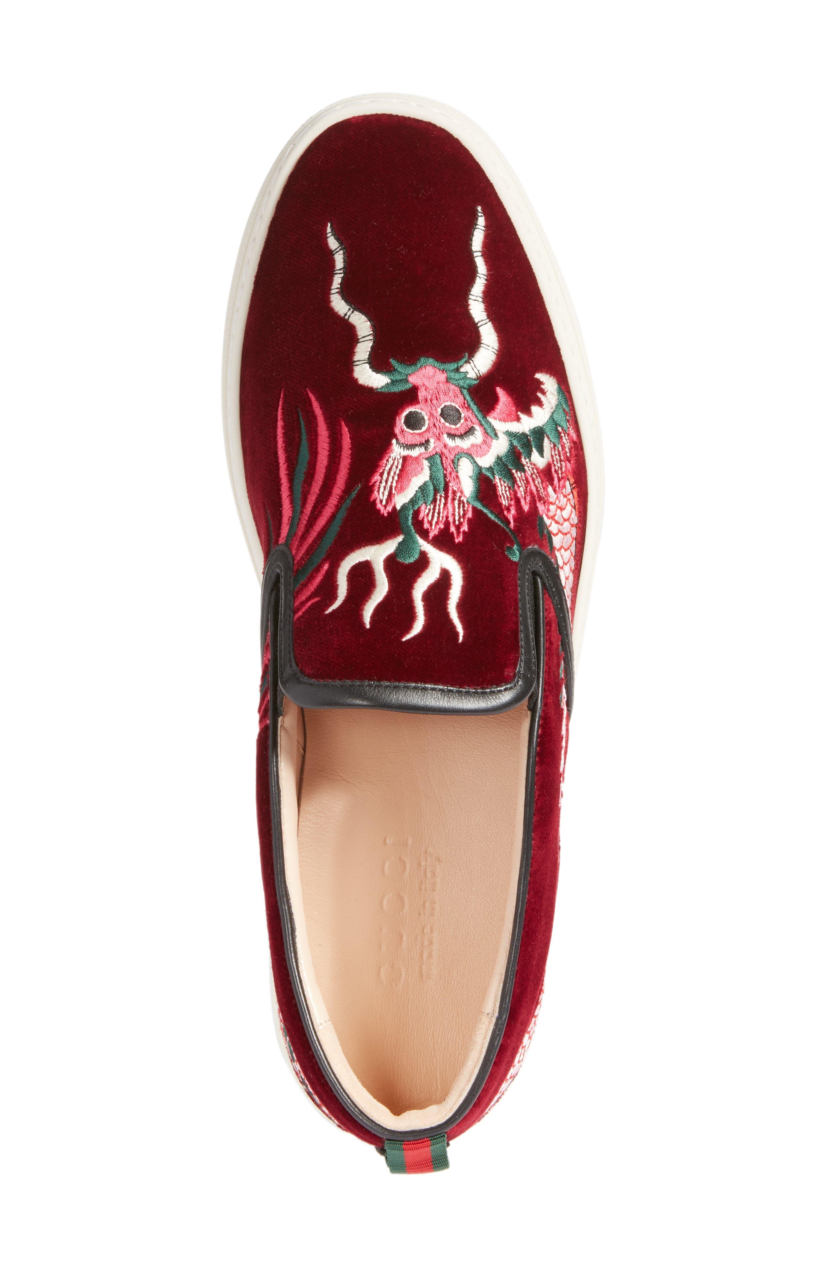 ,                             Dublin Embroidered Dragon Skate Sneaker,                             Alternate thumbnail 5, color,                             640