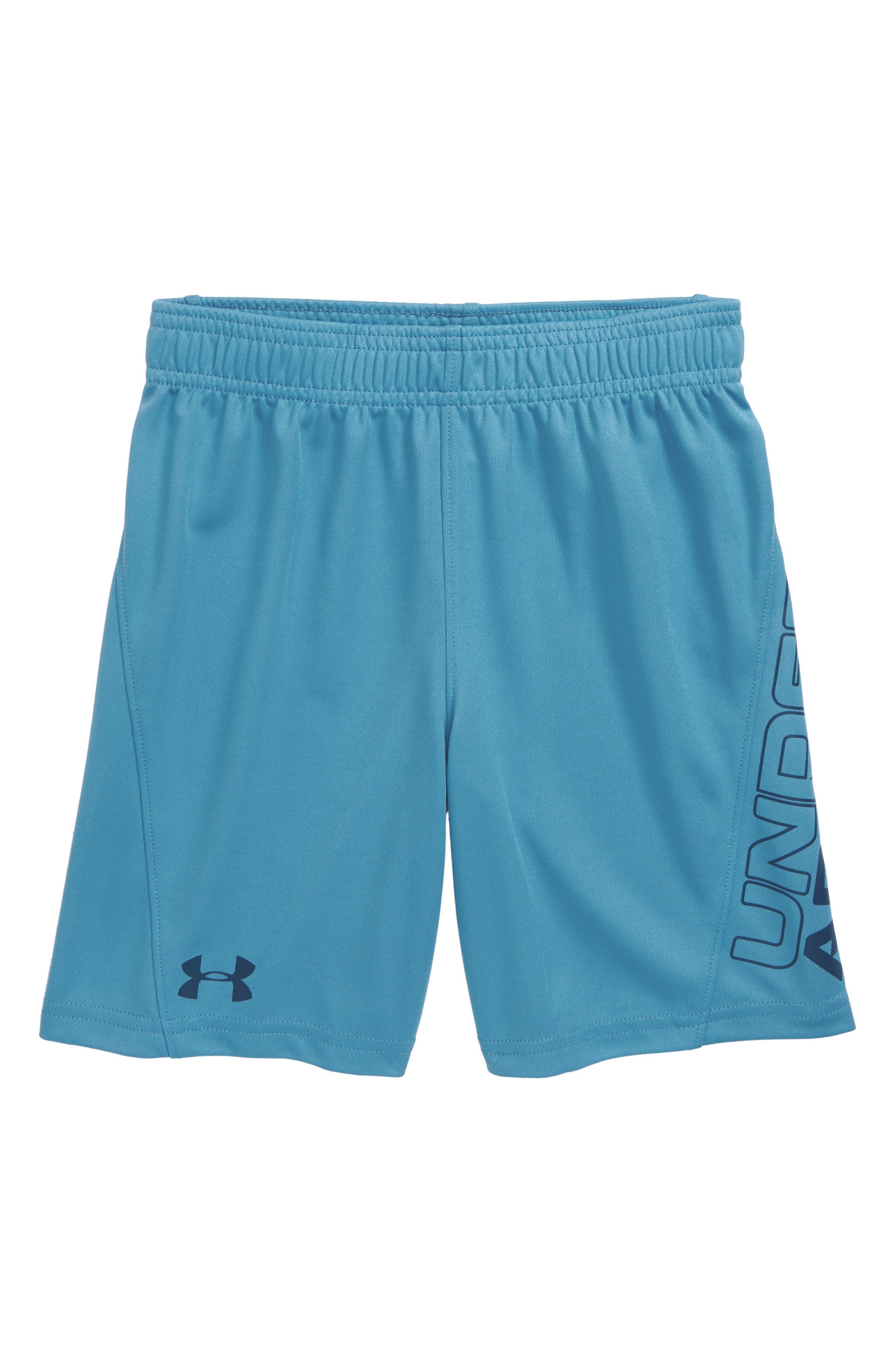 Boys Under Armour Kick Off Heatgear Athletic Shorts Size 6  Blue