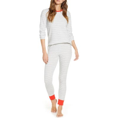 Rachel Parcell Thermal Pajamas, Grey (Nordstrom Exclusive)