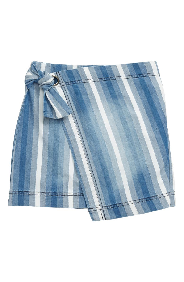 HABITUAL Stripe Wrap Skort, Main, color, MULTI