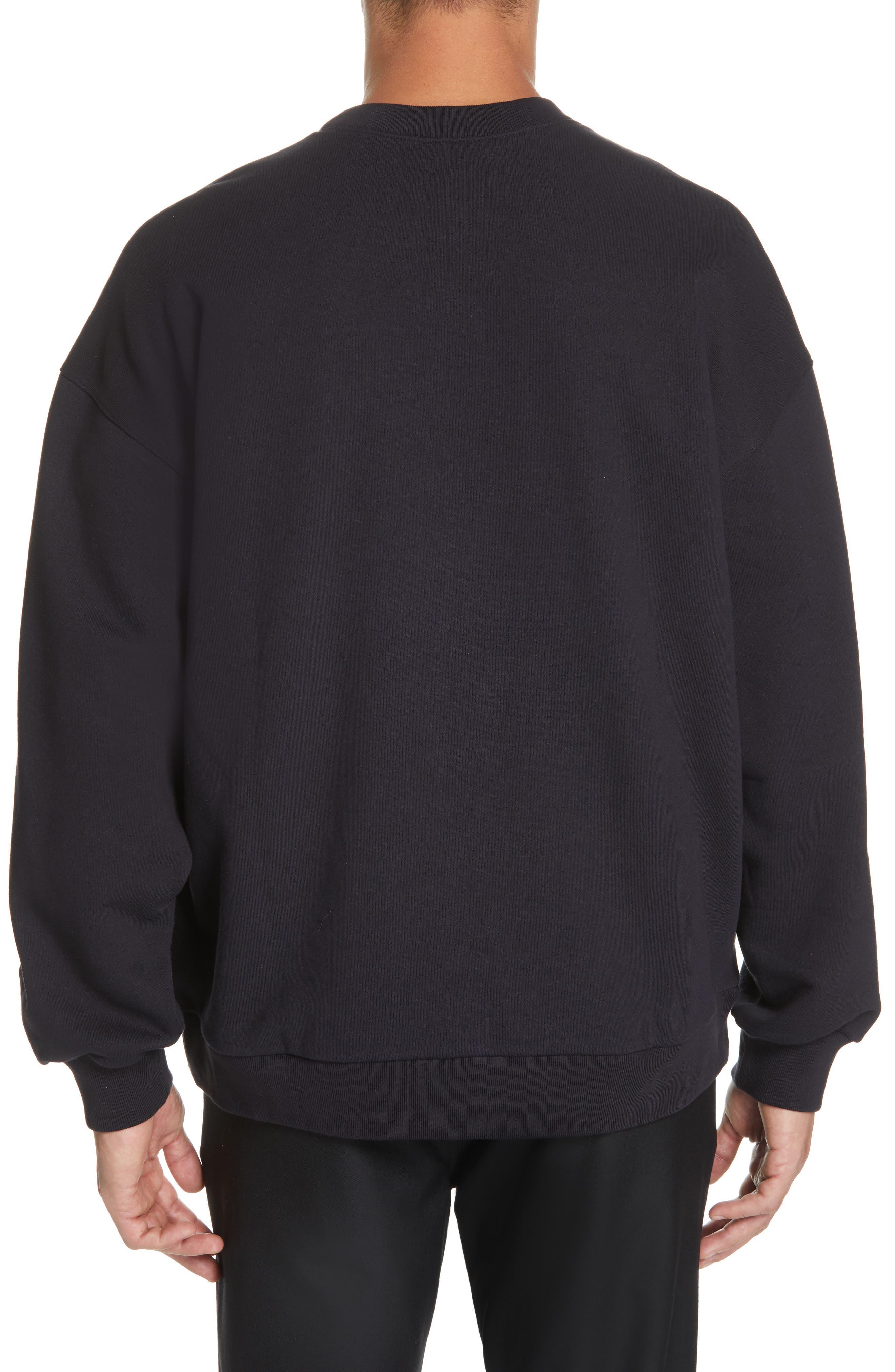 ,                             Oversize Crewneck Sweatshirt,                             Alternate thumbnail 2, color,                             410