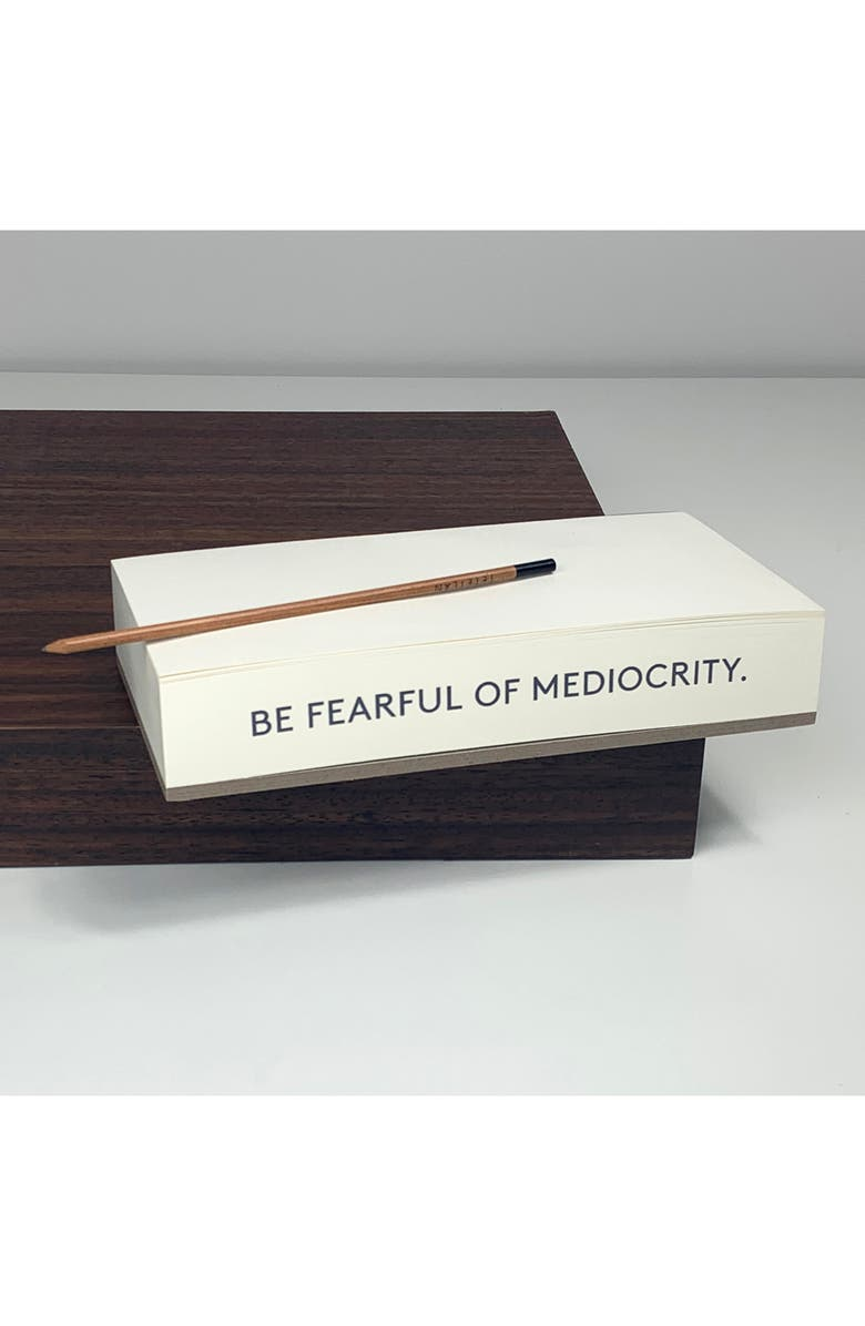 WMS & CO. Quote Note Pad, Main, color, BE FEARFUL OF MEDIOCRITY