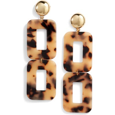 Ettika Rectangle Statement Earrings