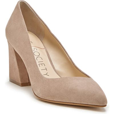 Sole Society Capra Pointed Toe Pump- White
