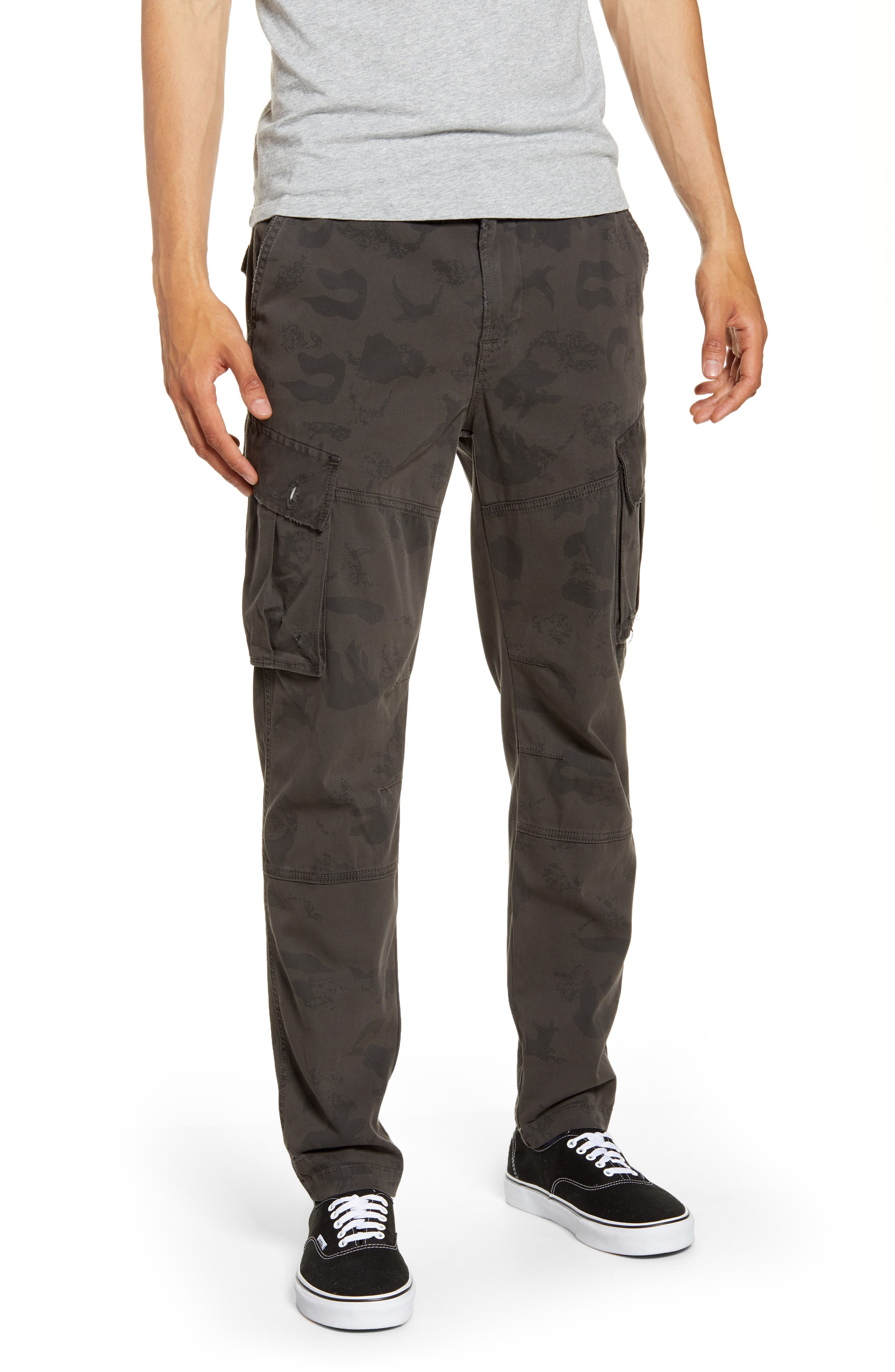 Hudson Jeans Skinny Fit Cargo Pants, Grey