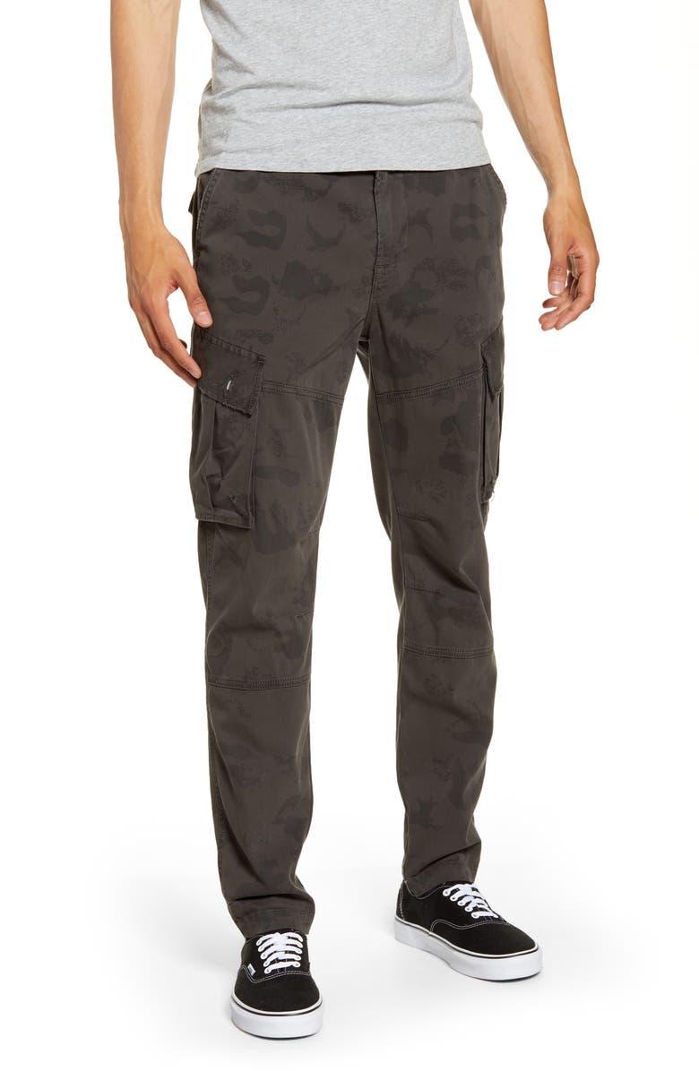 HUDSON JEANS Skinny Fit Cargo Pants, Main, color, DARK SLATE CAMO
