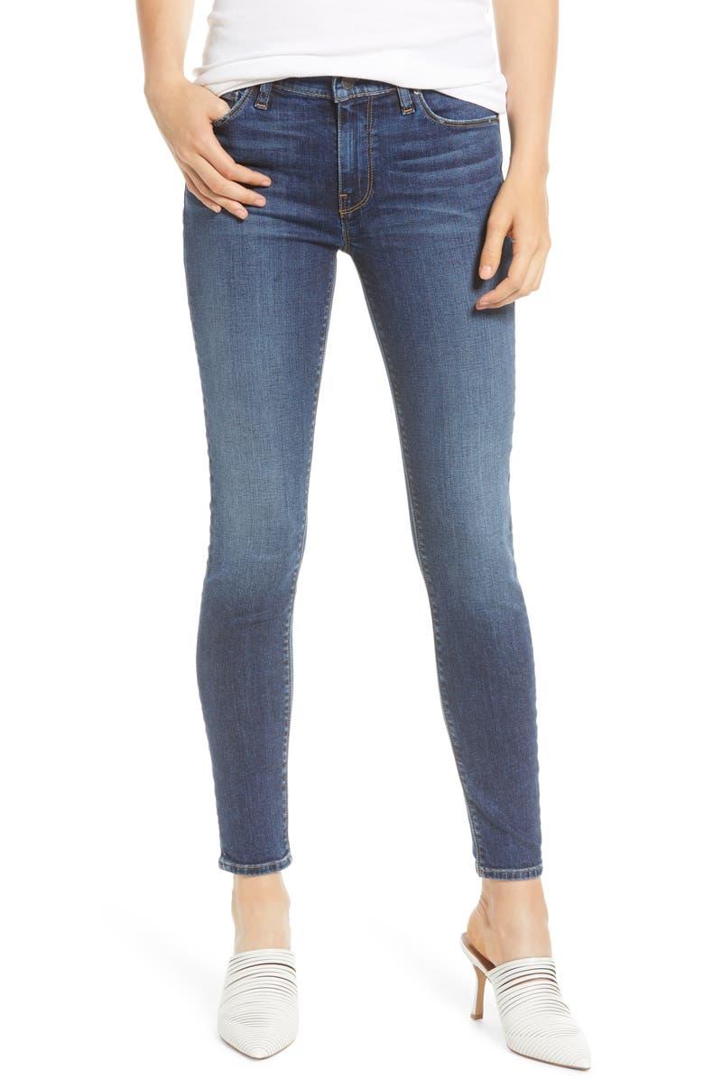 HUDSON JEANS Nico Ankle Super Skinny Jeans, Main, color, NO TEARS LEFT