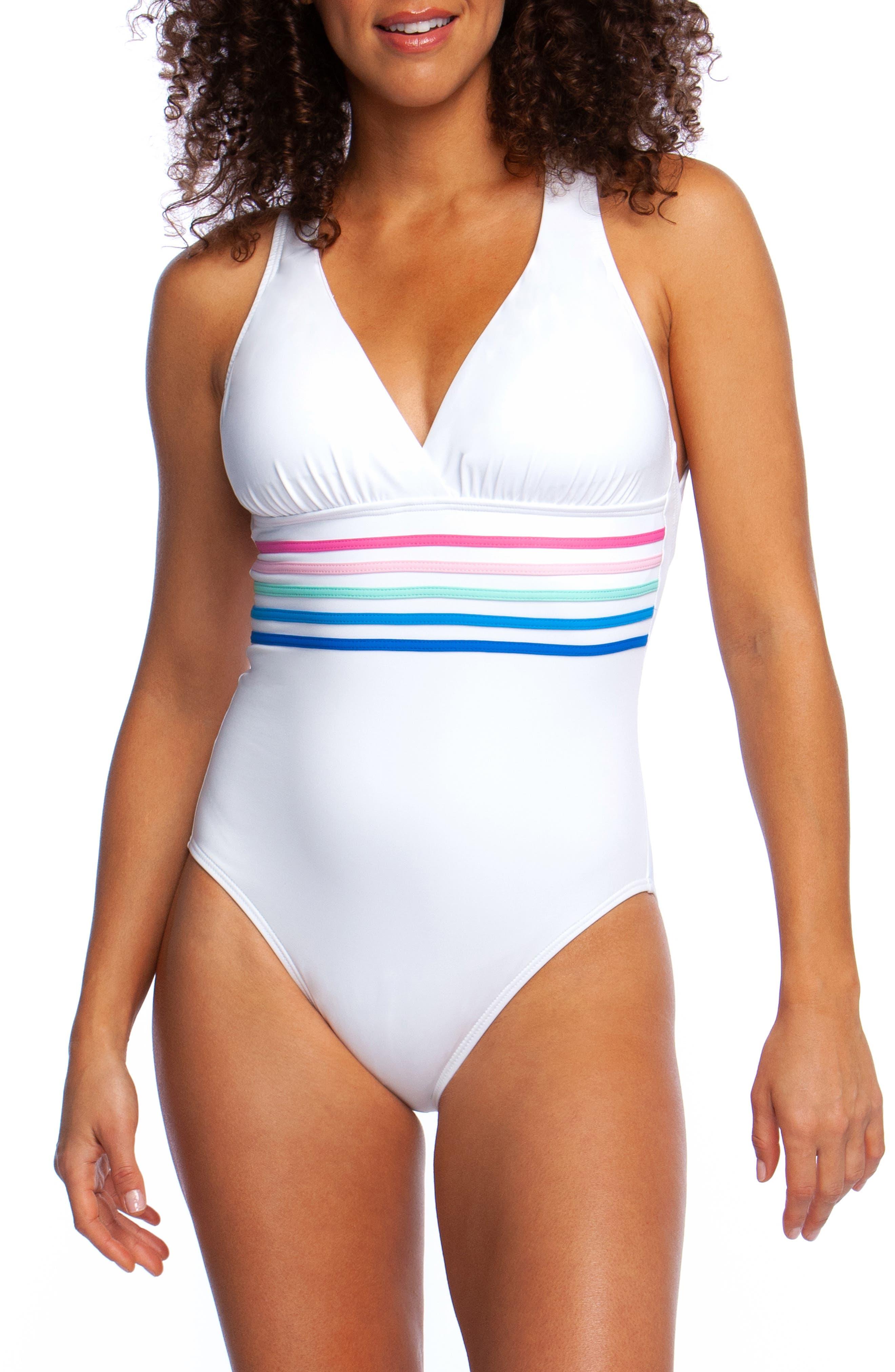 La Blanca Spectrum One-Piece Swimsuit, White