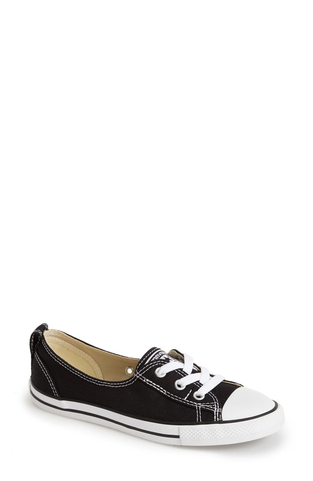 Chuck Taylor<sup>®</sup> All Star<sup>®</sup> Ballet Canvas Sneaker, Main, color, 001