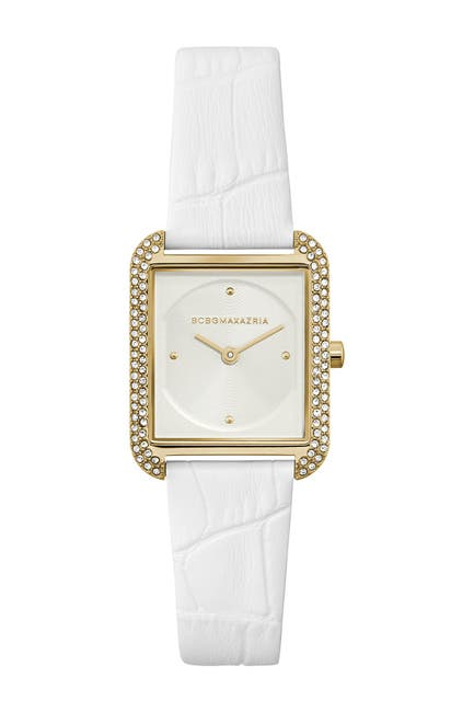 Image of BCBGMAXAZRIA Women's Classic Japanese-Quartz Watch with Leather Strap, 25.5mm