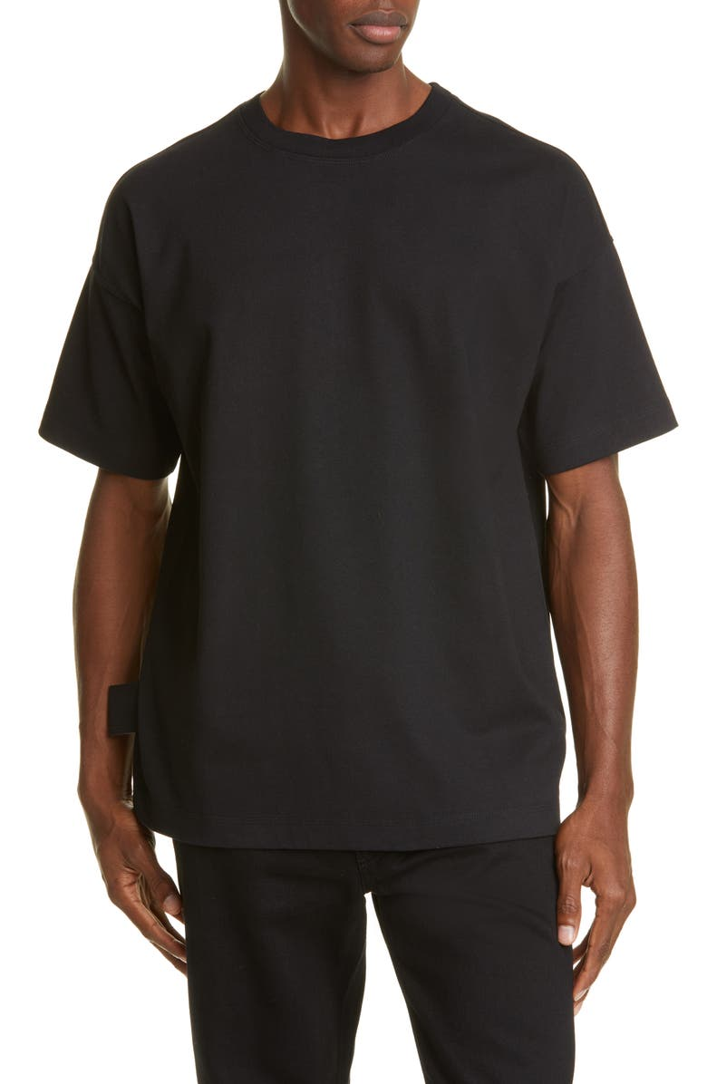 BOTTEGA VENETA Slim Fit T-Shirt, Main, color, NERO