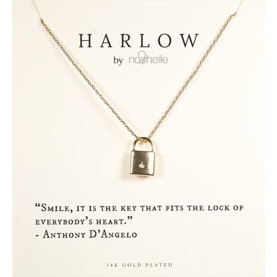 Harlow By Nashelle Lock Boxed Necklace