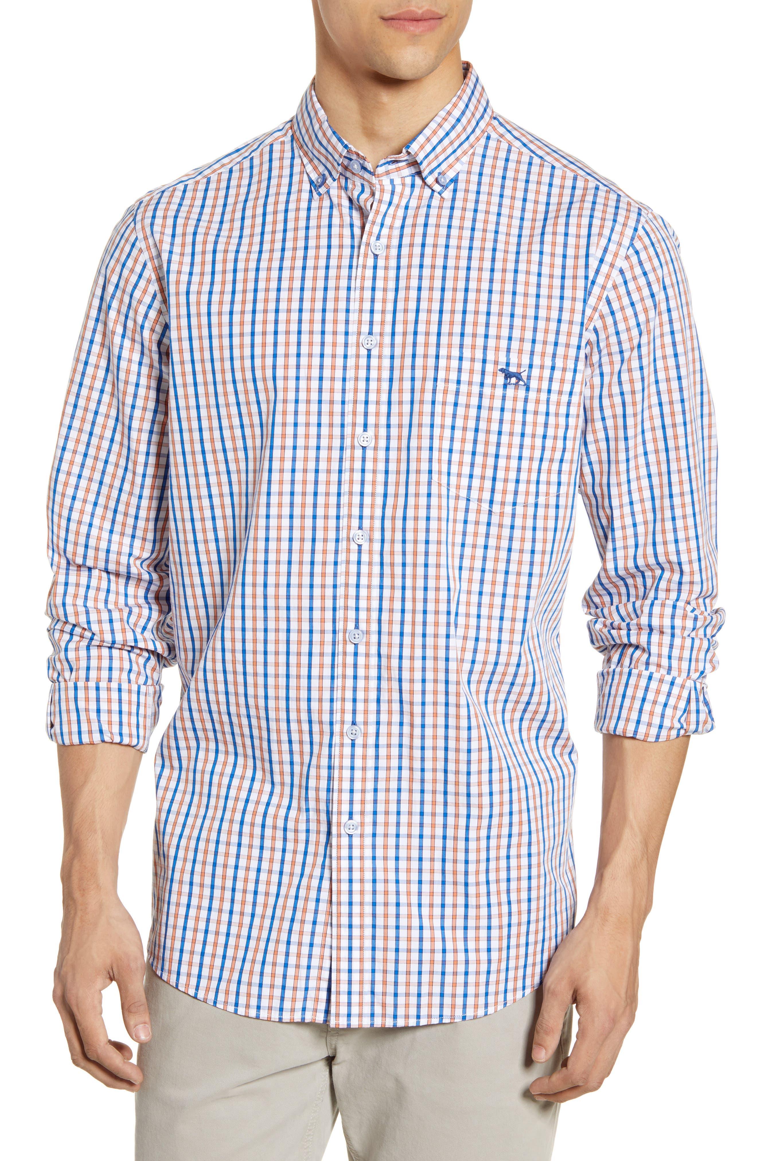 Image of RODD AND GUNN Gundry Regular Fit Check Button-Down Sport Shirt