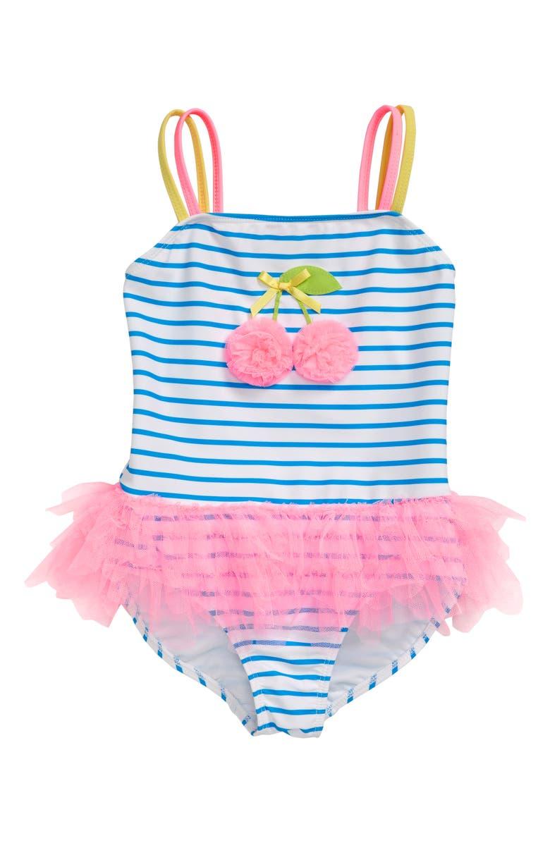 eb8f3fa622199 Kate Mack Cherry Tutu One-Piece Swimsuit (Toddler Girls & Little ...