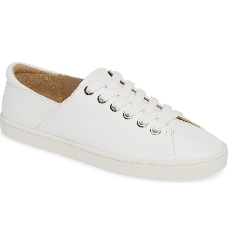 NORDSTROM SIGNATURE Stellina Sneaker, Main, color, WHITE LEATHER