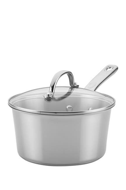 Image of AYESHA Collection Cookware Stainless Steel 3qt. Covered Saucepan