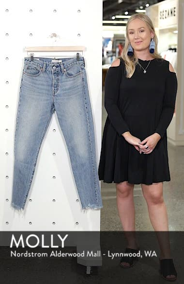 Wedgie Icon Fit Raw Hem Jeans, sales video thumbnail