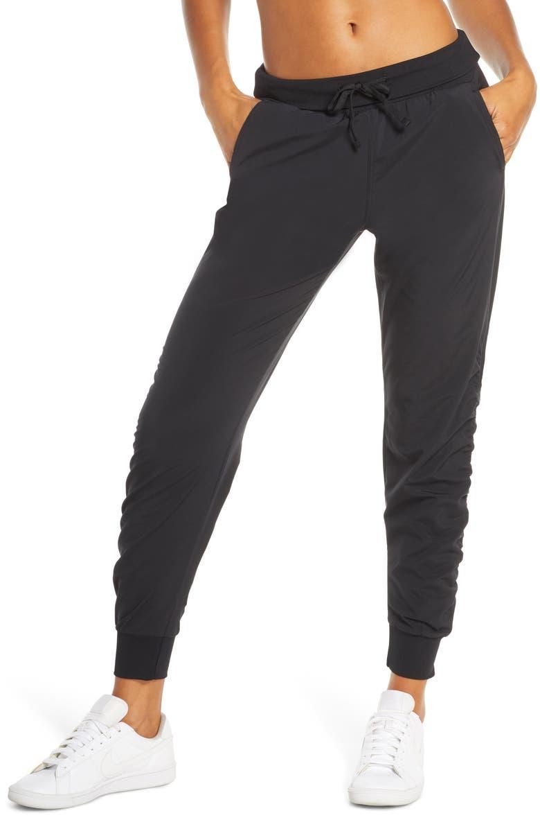 ZELLA Desire Studio Pants, Main, color, BLACK