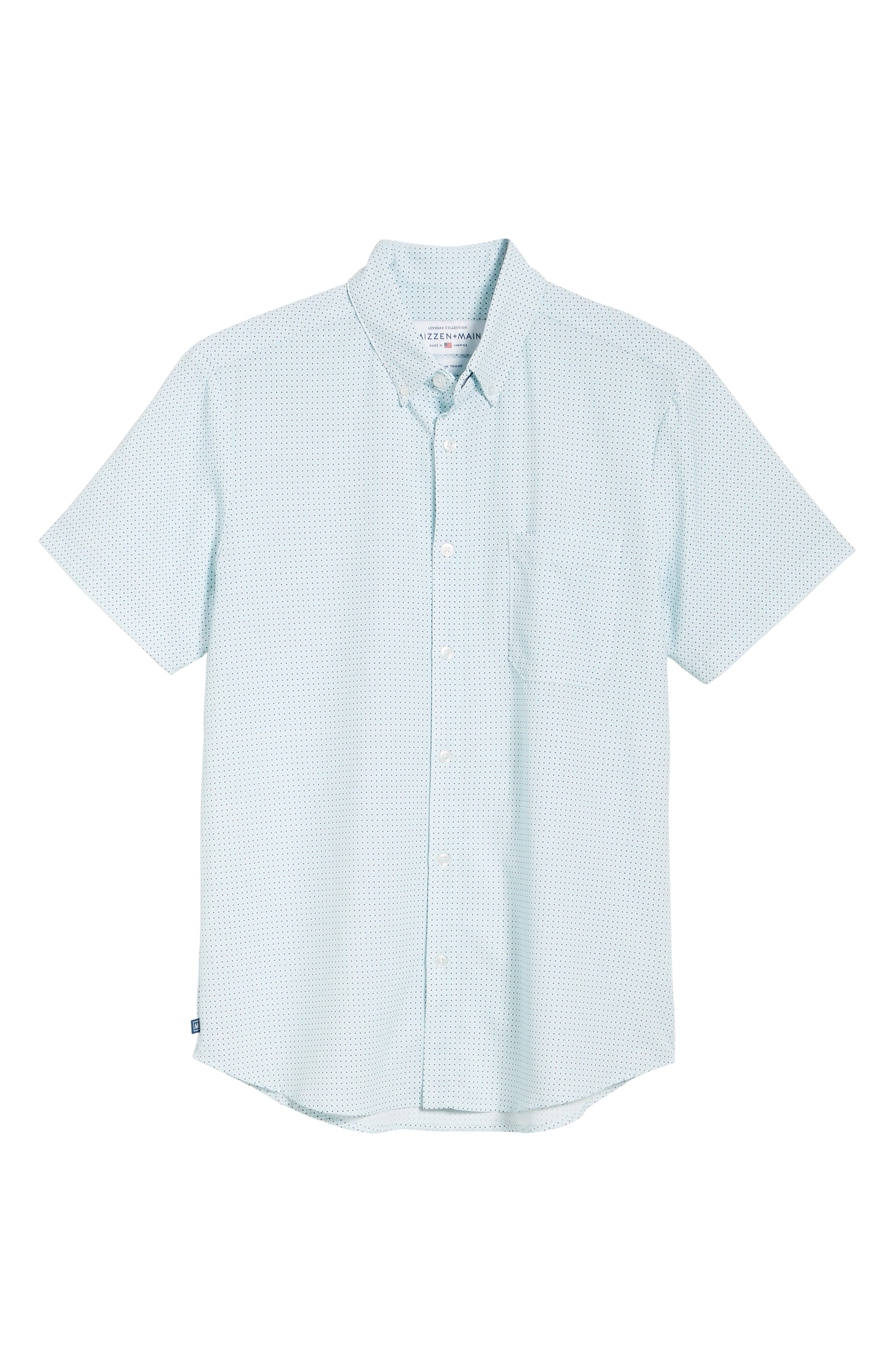 ,                             Burton Trim Fit Dot Print Performance Sport Shirt,                             Alternate thumbnail 5, color,                             BLUE