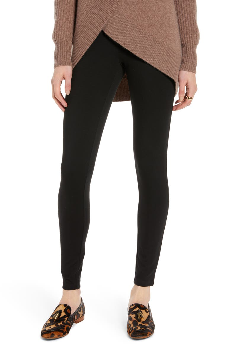 HALOGEN<SUP>®</SUP> High Waist Ponte Leggings, Main, color, BLACK