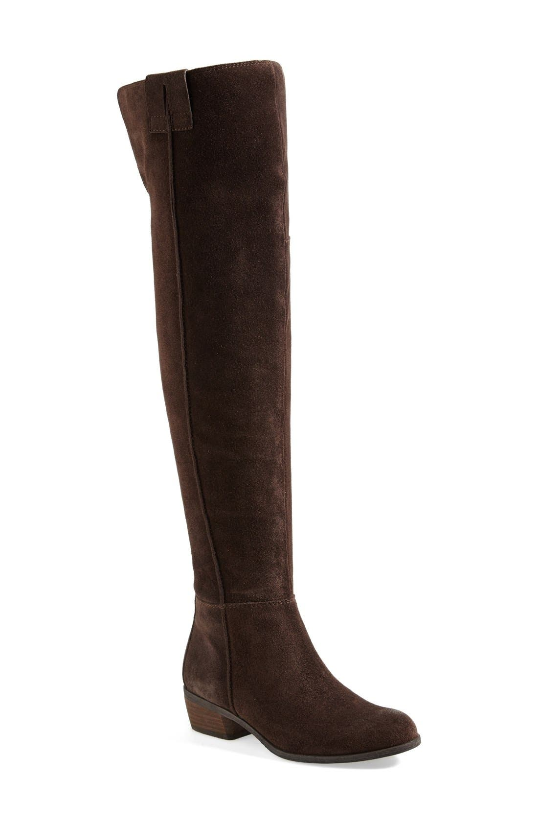 ,                             'Johanna' Over the Knee Suede Boot,                             Main thumbnail 7, color,                             200