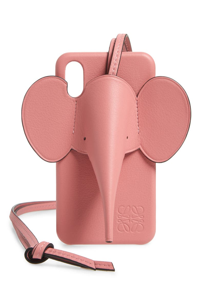 LOEWE Elephant iPhone X/Xs Case & Crossbody Strap, Main, color, CANDY