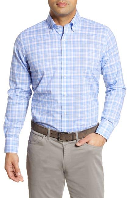 Image of Peter Millar Villa Chambray Plaid Regular Fit Shirt