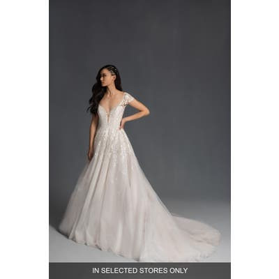 Hayley Paige Brando Embroidered Tulle Wedding Dress, Size IN STORE ONLY - Ivory