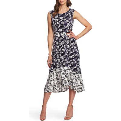 Chaus Batik Floral Sleeveless Dress, Blue