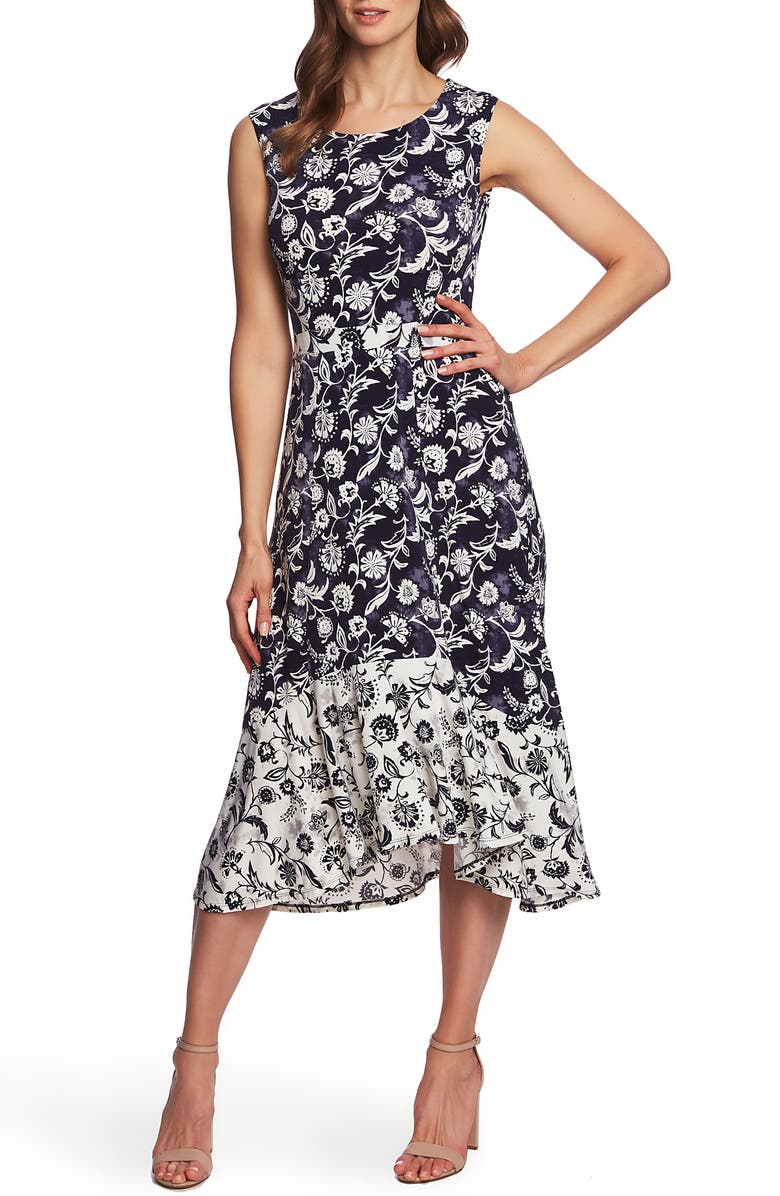 Chaus Batik Floral Sleeveless Dress