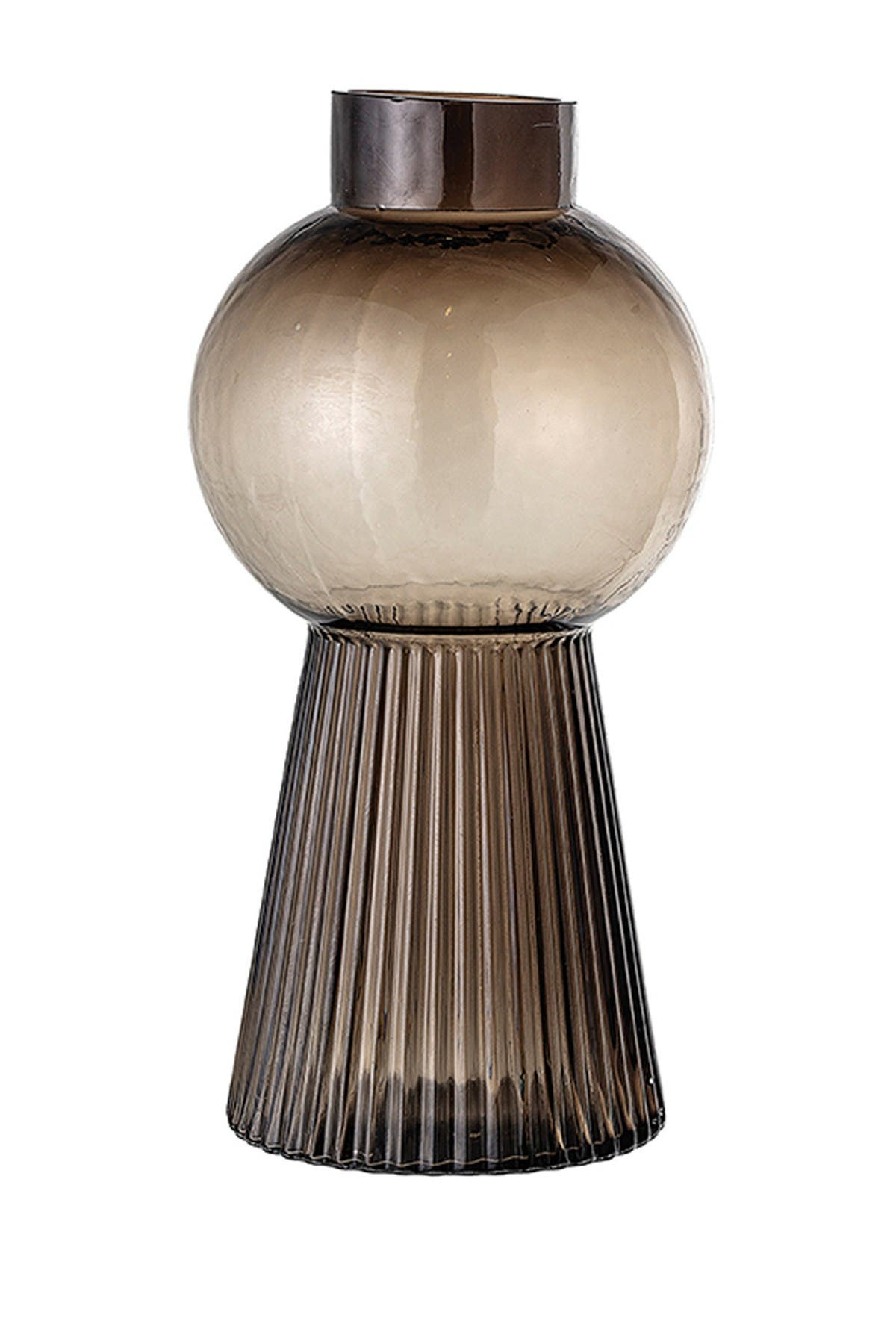 BLOOMINGVILLE Round Molded Tinted Glass Vase