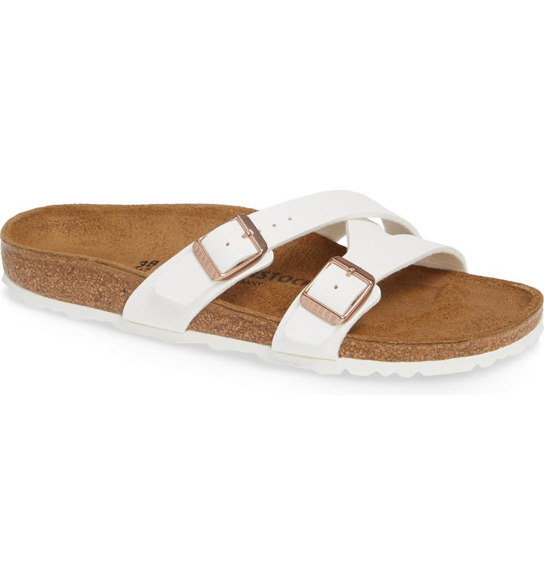 BIRKENSTOCK Yao Slide Sandal, Main, color, WHITE
