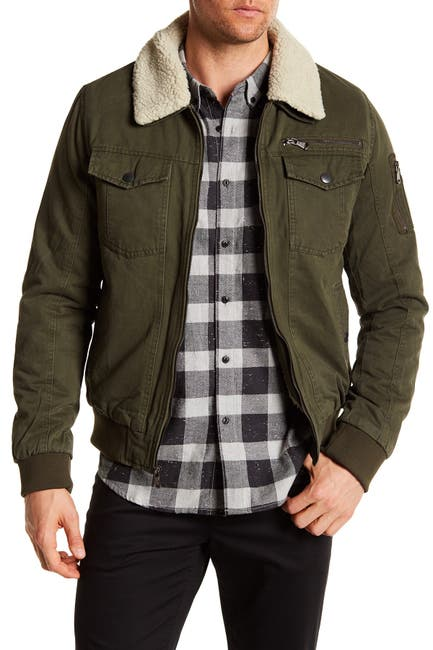 Image of PX Maverick Aviator Faux Shearling Collar & Lining Jacket
