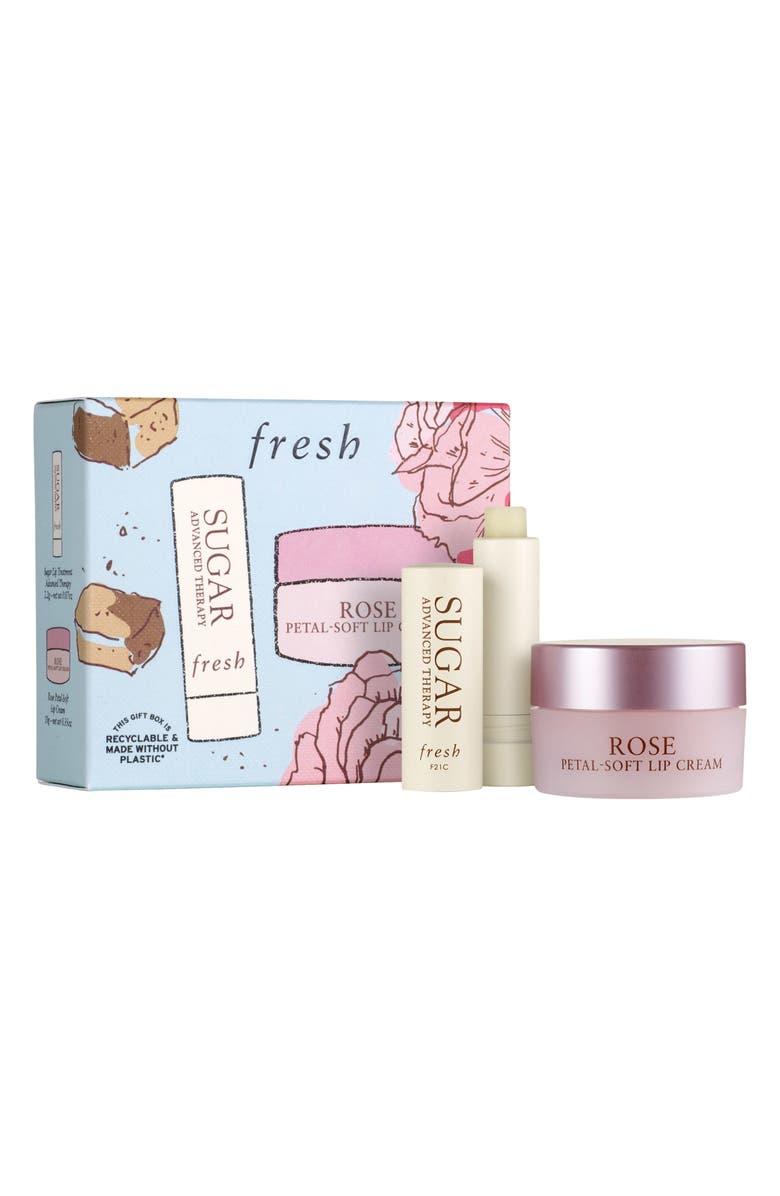 FRESH<SUP>®</SUP> Rose Petal-Soft Lip Cream Set-$37 Value, Main, color, NO COLOR