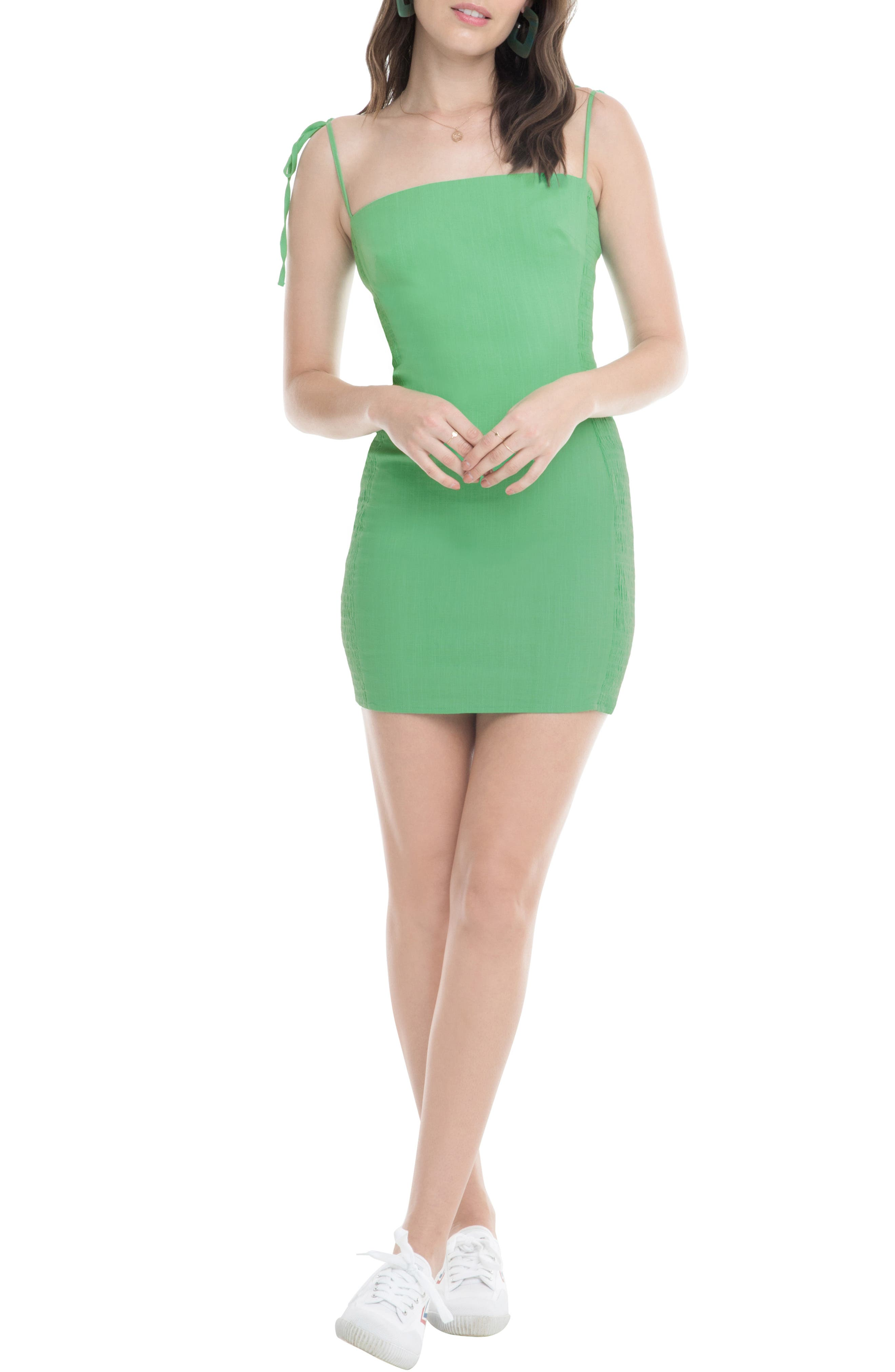 Astr The Label Lena Minidress, Green