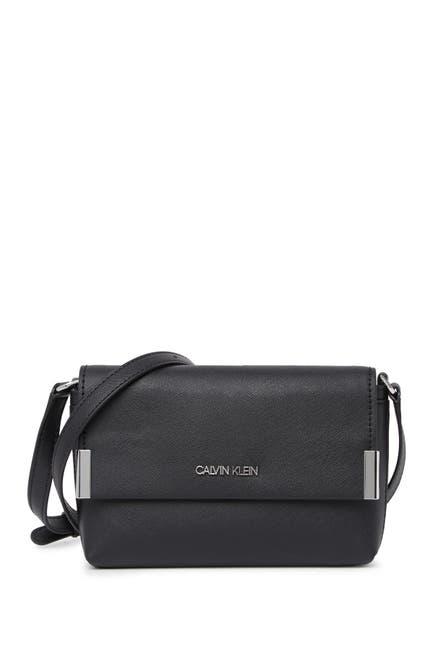 Image of Calvin Klein Saffiano Flap Crossbody Bag