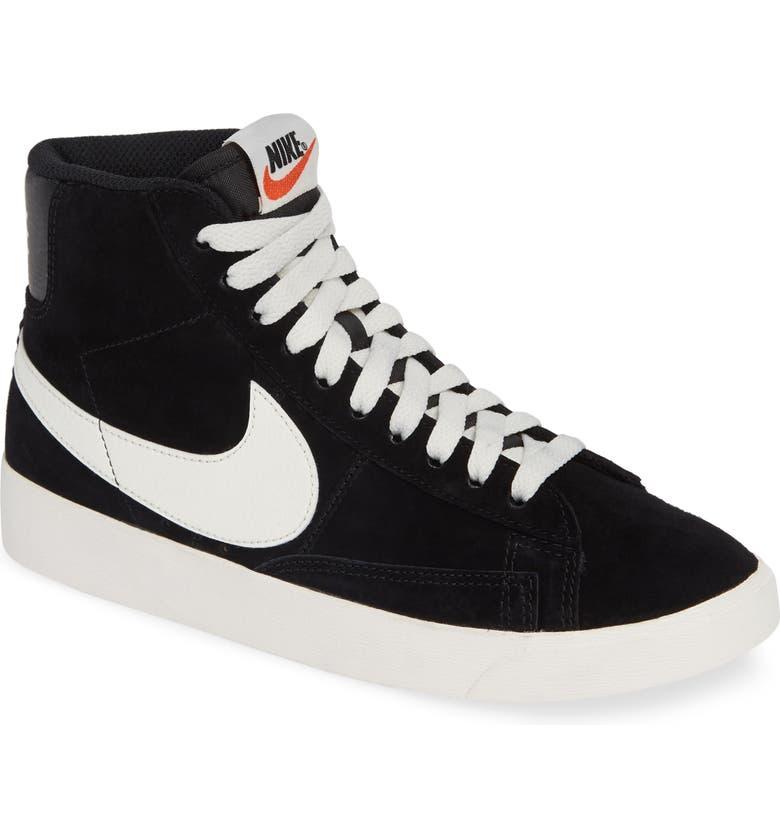 NIKE Blazer Mid Vintage Sneakers, Main, color, 001