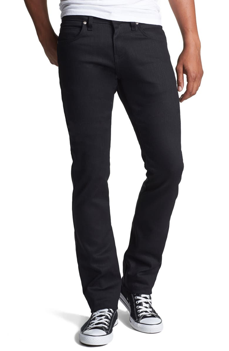 NAKED & FAMOUS DENIM Skinny Guy Skinny Fit Jeans, Main, color, BLACK POWER STRETCH