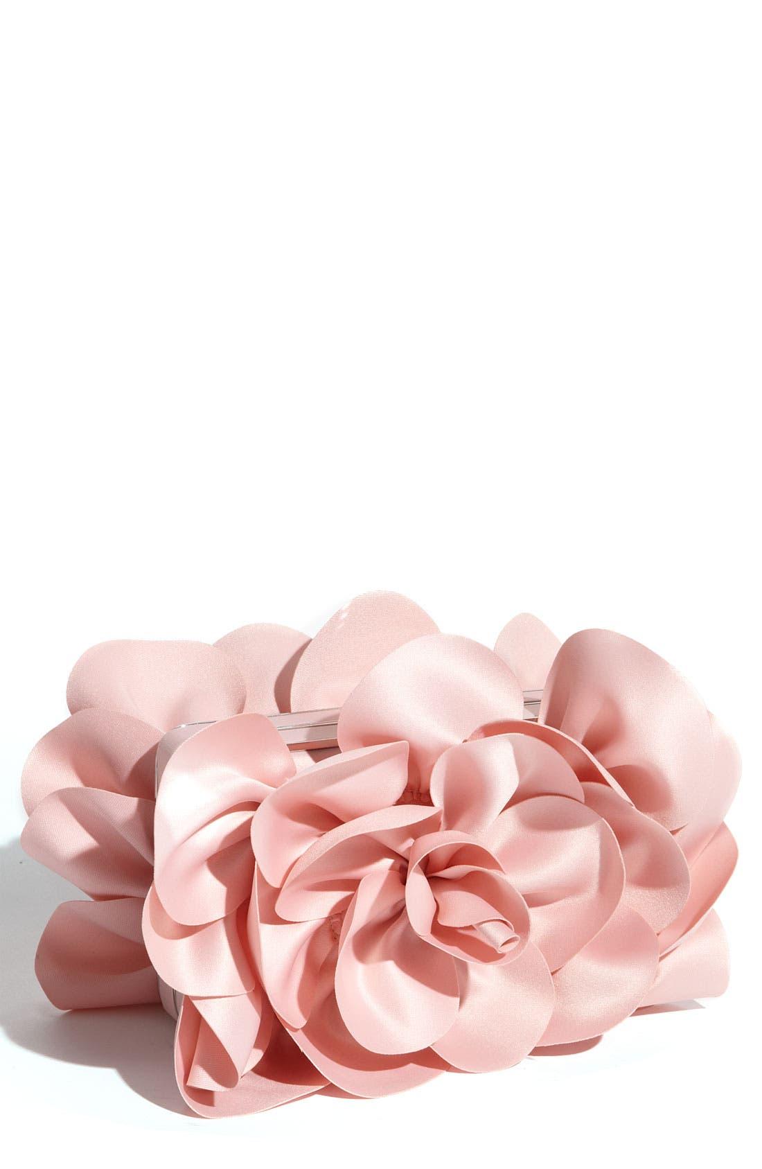 ,                             'Rose' Satin Box Clutch,                             Main thumbnail 22, color,                             681
