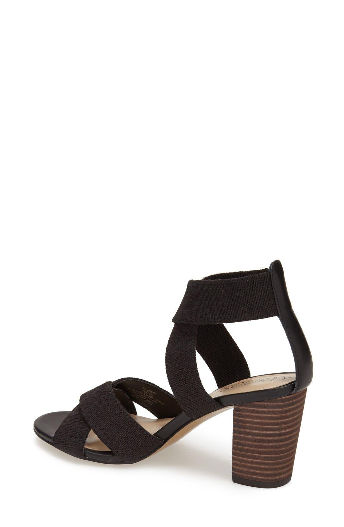 ,                             'Joesy' Block Heel Sandal,                             Alternate thumbnail 3, color,                             001