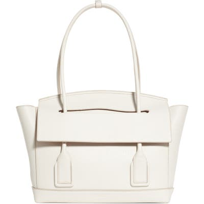 Bottega Veneta The Arco 48 Leather Top Handle Bag - White