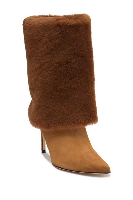 Image of Alexandre Birman Genuine Shearling Booties